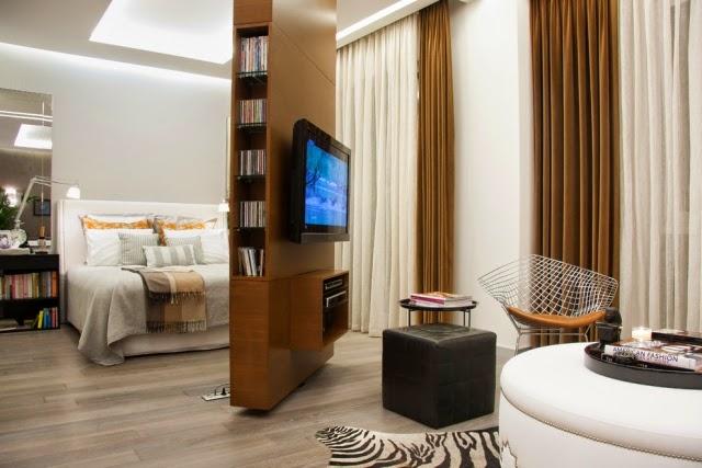 Ideas para separar dormitorios dormitorios colores y estilos - Estanterias para separar ambientes ...