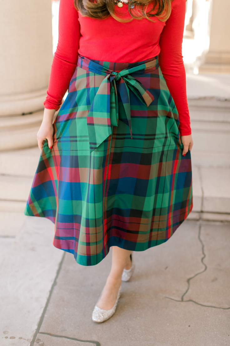 The Perfect Plaid Skirt for the Holidays