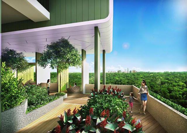 Khu Cafe sân vườn trên cao tại FLC Green Home