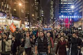 Thousands protest Trump's presidency before Trump Tower in New York