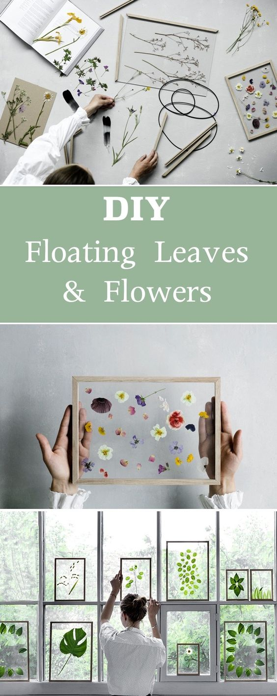 DIY Floating Leaves And Flower