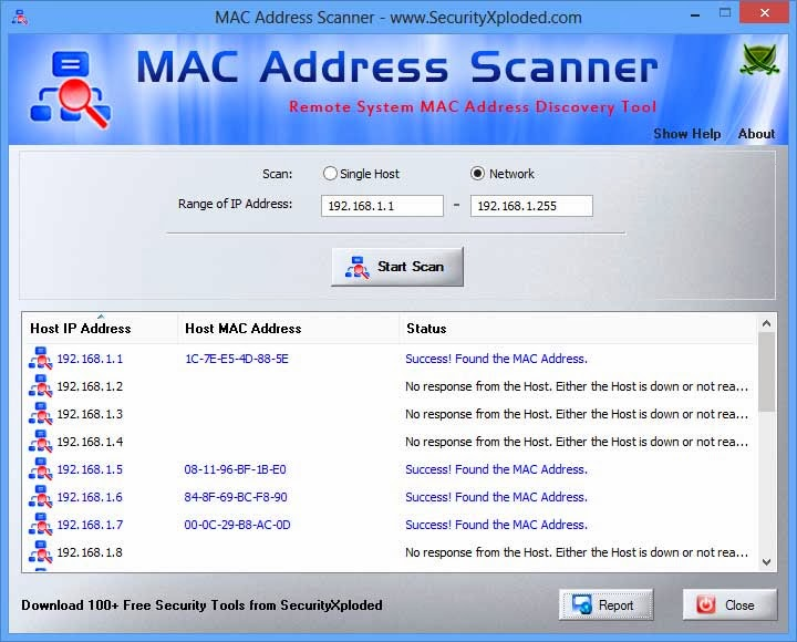 MAC Address Scanner v15 Desktop Tool to Find MAC address of Remote