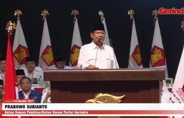 Prabowo: Kondisi Bangsa Sedang Lemah