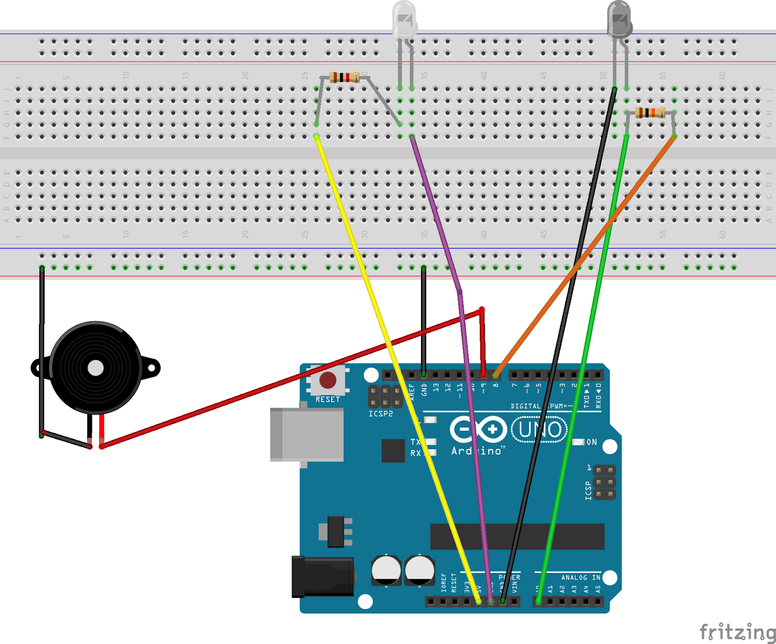 Learn Through Example Arduino Burglar Alarm Using Infrared Emitter How To Build Ir Detector Circuit Diagram
