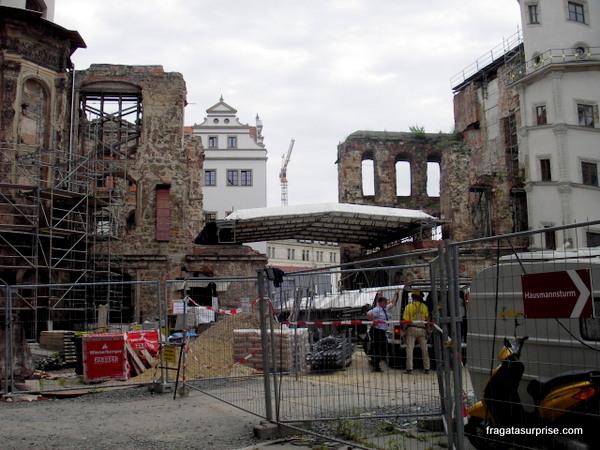 Obras de restauração do Castelo de Dresden