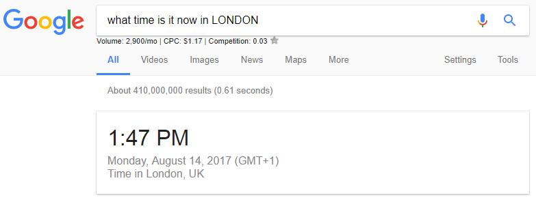 use google as clock