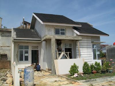 Foto saat pembangunan rumah tipe 70