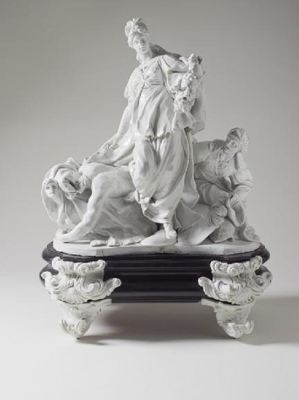 giuditta con la testa di oloferne scultura di porcellana ginori
