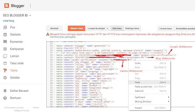 Cara Verifikasi Blog Ke Yandex Webmaster