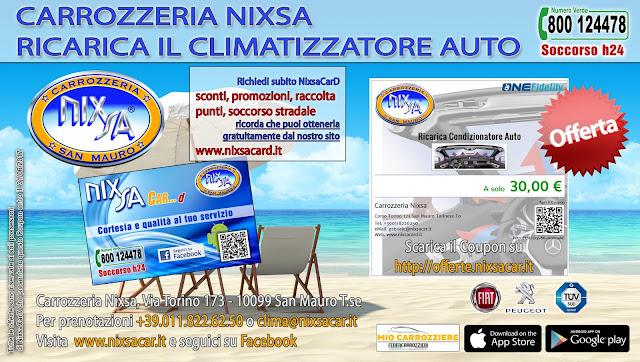 Offerta Ricarica Clima - Carrozzeria Nixsa