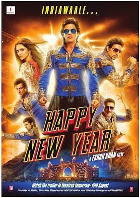 Filem, Movie, Bollywood, Hindi, Hindustan, Bollywood Movie, Filem Happy New Year, Pelakon, SRK, Deepika,  Abhishek Bachan, Sonu Sood, Boman Irani, Jackie Shroff dan Vivaan Shah,