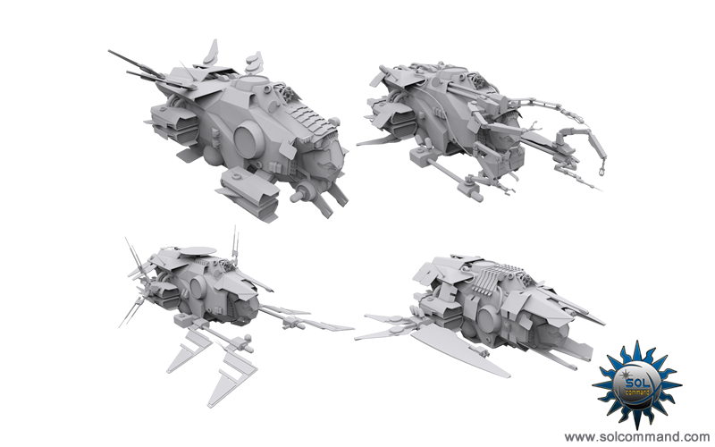 spaceship collection wip work in progrss texture uv map 3d model scifi
