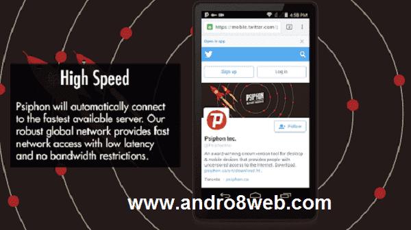 تحميل تطبيق كاسر بروكسي سايفون برو للأندرويد آخر إصدار - Psiphon Pro 2.0.2.0