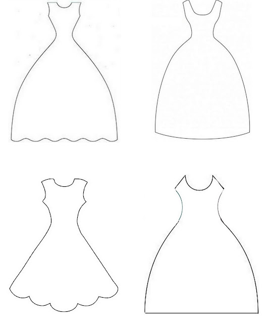 Bride Wedding Dress Templates.