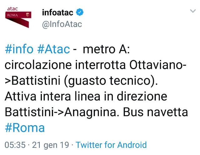 interruzione Metro A