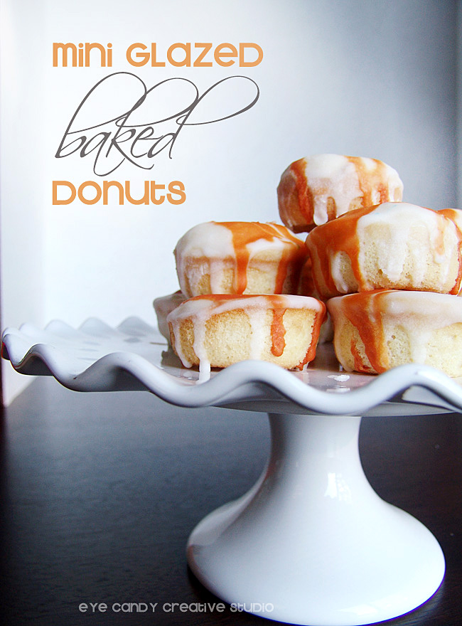 mini glazed hazelnut baked donuts, recipe for hazelnut donuts, Coffeemate