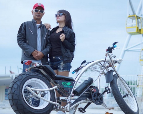 www.Tinuku.com Wiwin Vegas designed Seliged electric bike lowrider chopper stylish and luxurious aluminum frame