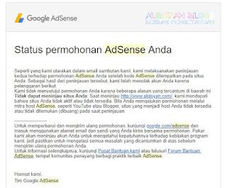 tidak dapat meminjau situs anda- 5 penolakan Google Adsense