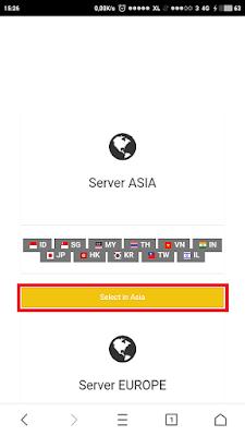 Pemilihan server tcpvpn