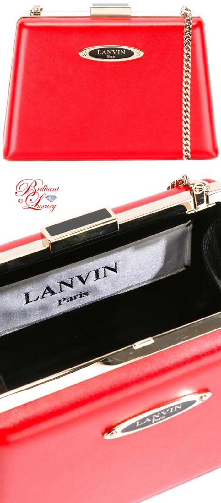 Brilliant Luxury ♦ Lanvin Compact Angular Crossbody Bag