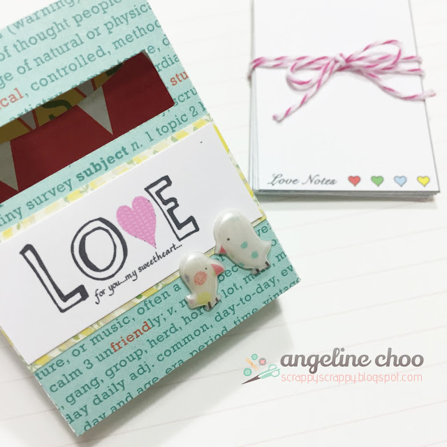 ScrappyScrappy: Mini love notes #scrappyscrappy #thecuttingcafe #crayonbox #lovenotes
