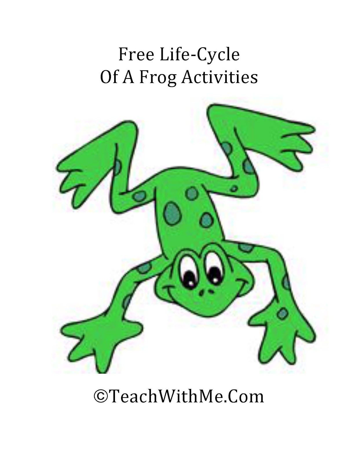 The Life Cycle Of A Frog Activities - Classroom Freebies - photo#17