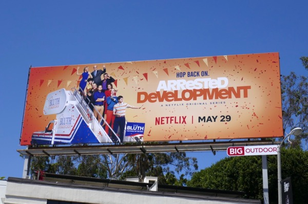 Arrested Development season 5 Netflix billboard