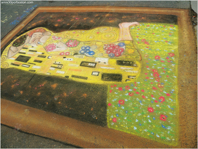 El Beso Chalk on the Walk en la MayFair 2016