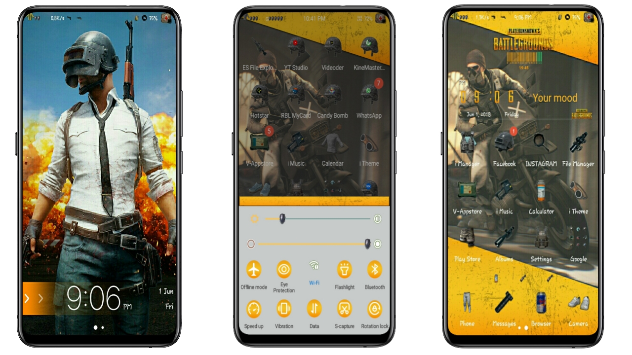 All New PUBG Theme For All Vivo Phones  V11,V9,V7,V5,Y85,Y83,Y81,Y69