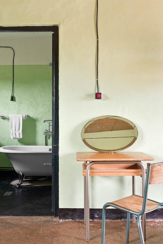 bañera exenta en casa rural