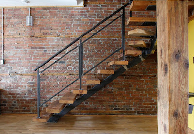 wooden stairs design ideas with railing for home interior decor 2019