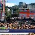 Флаг Грузии на антиправительственном митинге в Венесуэле