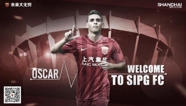 OFICIAL: Oscar é o novo reforço do Shanghai SIGP