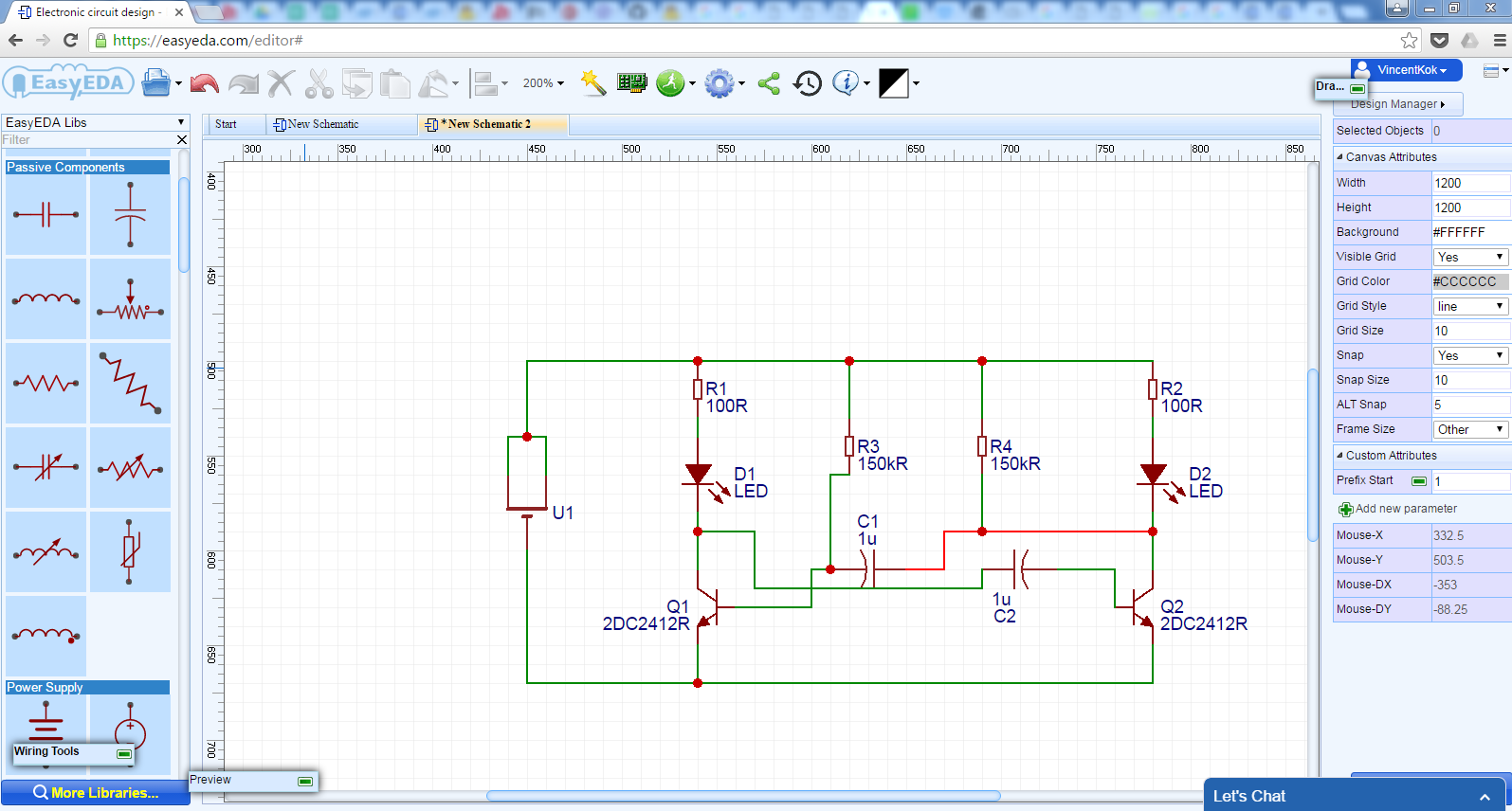 Vinctronics Review Of Easyeda Design Software How To Build Pcb Online Using Web Based Eda Tools Electronic Can Work On My Anywhere From Any Devices Even Ipad Previously I Have Transfer Files Between Different Laptops And It Was