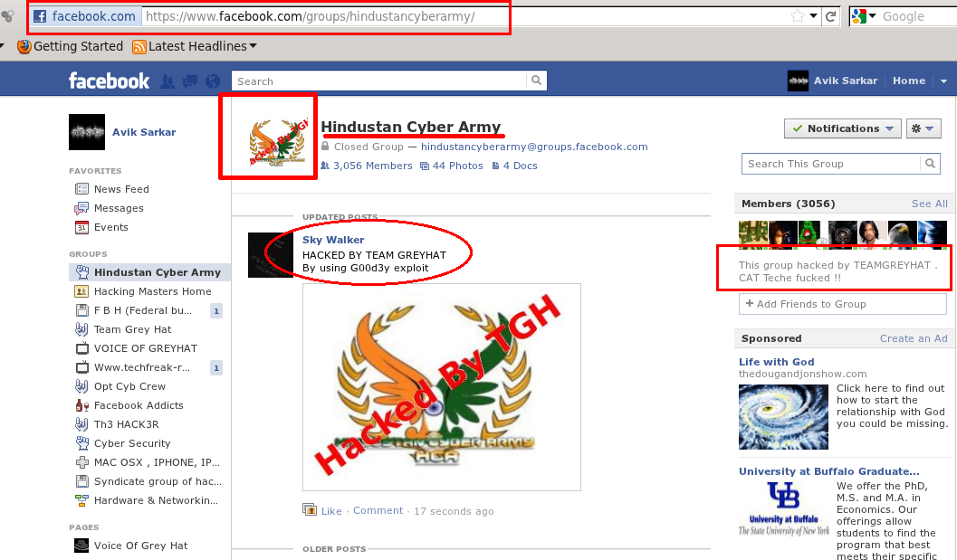 Pakistani Hacker club: G00d3y Penetrating Facebook Security