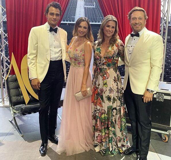 Princess Martha Louise wore a floral dress by TSH - Tina Steffenakk Hermansen. Antonio Banderas