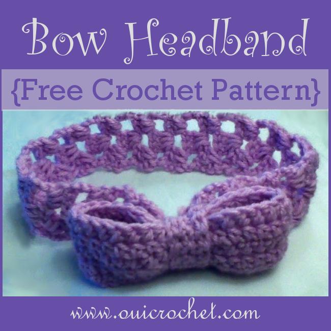 Crochet, Crochet Headband, Crochet Bow, Crochet Bow Headband, Free Crochet Pattern,