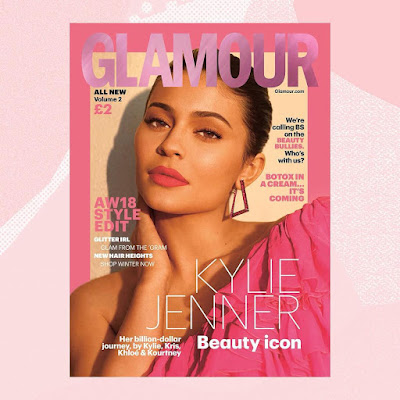 KylieJenner in triple cover for glamour magazine UK