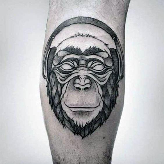 Tatuagem Masculina Gorila