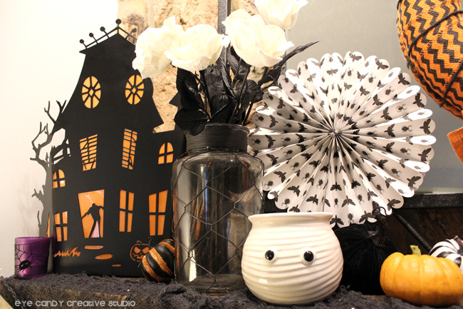 haunted house, halloween mantel decorating ideas, halloween decor