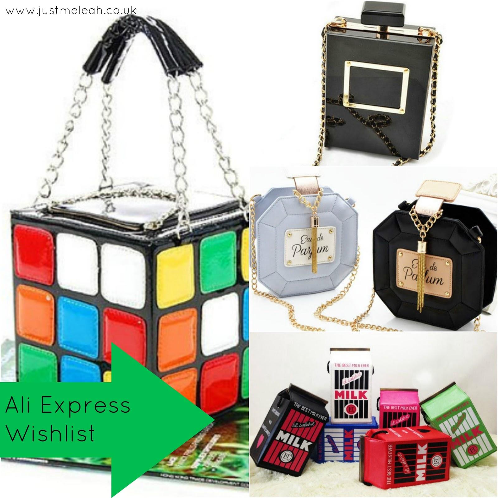 Ali Express Novelty Handbag Wishlist