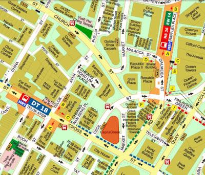 map, Capital Green, Raffles Place, Singapore