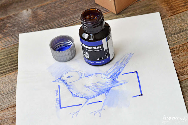 Rohrer & Klingner Dokumentus Waterproof Fountain Pen Ink, 50 ml, Dark Blue