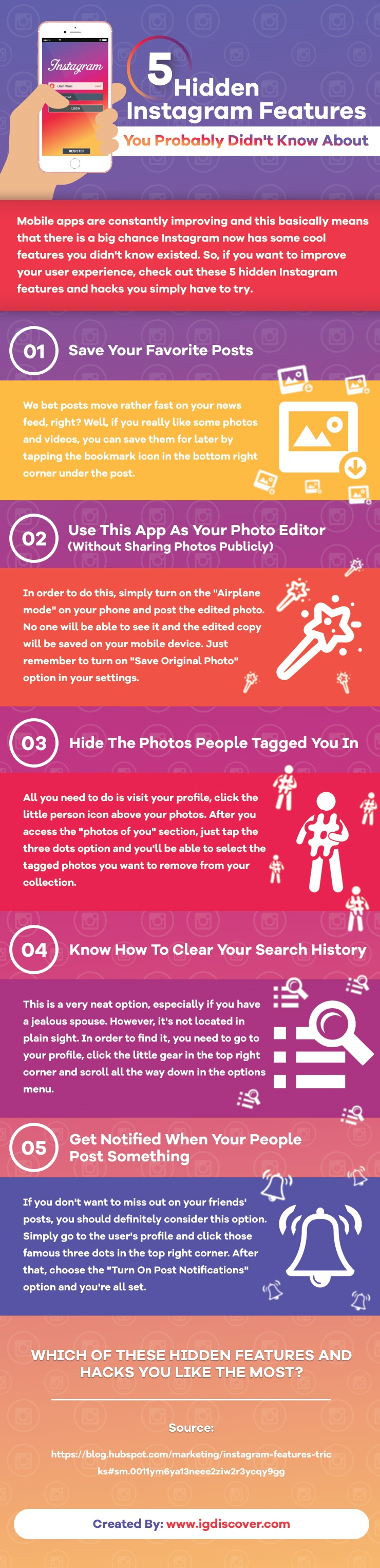 5 Instagram Hacks and Features You Probably Didn't Know About - #infographic