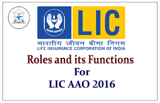 Roles and Functions of LIC for AAO 2016 Exam