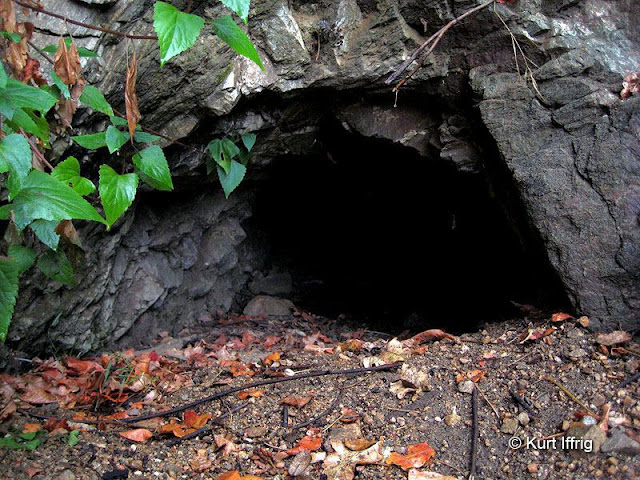 The portal of this unidentified mine in Las Flores Canyon was probably about six feet tall in the 1800's.