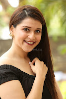 Mannara Chopra in Short Off Shoulder Black Dress ~  Exclusive 029.JPG