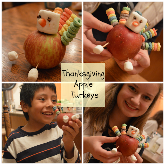 Thanksgiving Apple Turkeys