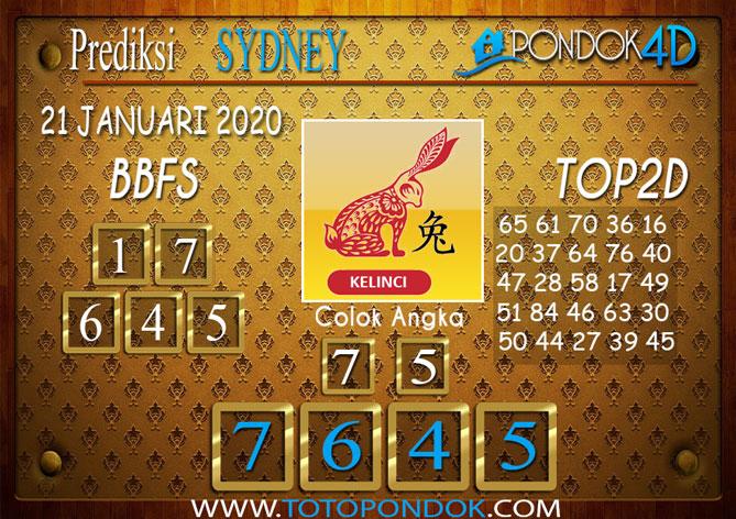 Prediksi Togel SYDNEY PONDOK4D 21 JANUARI 2020