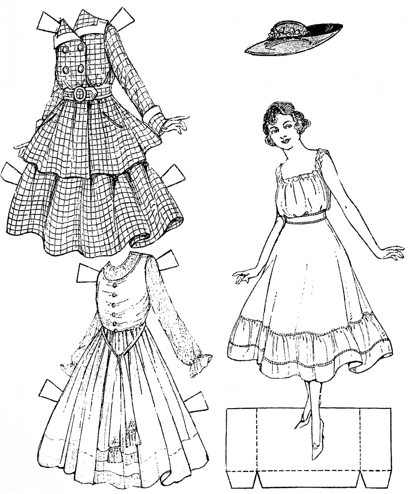 Mostly Paper Dolls Too!: Fashionable HARRIET